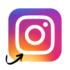 Instagram Logo mit Pfeil