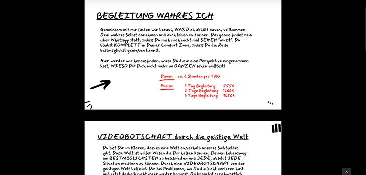 screen shot Angebote